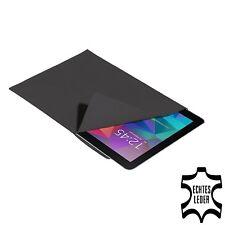 Echtleder Tasche Hülle für Samsung Galaxy Tab und andere 10 Zoll, anthrazit