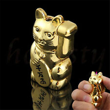 Novelty Gold Lucky Cat Cigarette Lighter Butane Gas Cigar Lighter Refillable