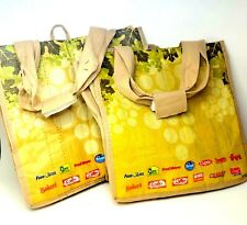 Earthwise 6 Bottle wine Tote/Carrier Bags Beige & Tan Color Up to 1.5 Liters Cap