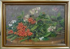 MONOGRAM SIGNED! STILL LIFE COMPOSITION WITH FLOWERS