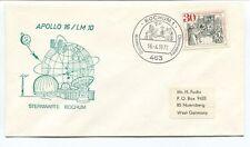1972 Apollo 16/LM 10 Sternwarte Bochum 1 Observatory Deutsche Bundespost SPACE