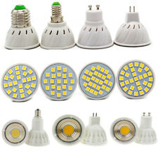GU10 MR16 E14 E27 LED Spotlights 3/4/5/6/7/15W Bulbs 220V DC12V Warm White Light
