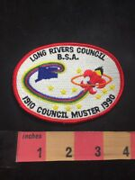 1990 Long Rivers Council Muster BSA Boy Scouts Patch 80XE