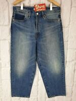 Levi's Altered LVC Style 13oz Denim Mid Blue Balloon Jeans Zip Fly W32 £105 New