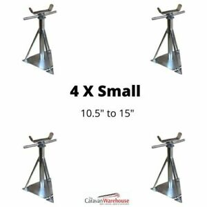 """4 x Static Caravan Axle Support Stands Small 10.5"""" - 15"""""""
