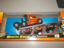 New Bright Adventure Wheels 15 piece Monster Hauler Car Transporter 24.5 inch