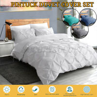 3Pcs Bedding Set Duvet Quilt Cover w/ 2 Pillowcase for Comforter Queen King Size