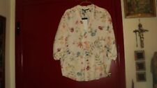 ZARA IVORY FLORAL MULTI-COLOR LOOSE BLOUSE TUNIC VISCOSE*SIZE M*PORTUGAL