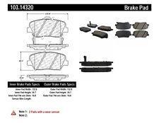 Ceramic Disc Brake Pad Set-C-TEK Ceramic Brake Pads Front Centric 103.14320