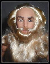 NUDE KEN MERLIN ARTICULATED LONG BEARD HAIR MATURE BOYFRIEND DOLL FOR OOAK
