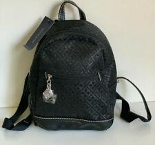 NEW! TOMMY HILFIGER BLACK TRAVEL BACKPACK BAG PURSE $88 SALE