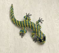 Unique Lizard Brooch pin enamel on metal