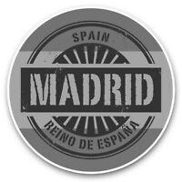 2 x Vinyl Stickers 15cm (bw) - Madrid Spain Reino De Espana Travel  #40499