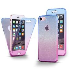 Shockproof 360° Protective Clear Gel Case Cover For Apple iPhone 5S 6 6S 7 plus