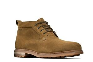 Clarks Men's Foxwell Mid Dark Sand Suede Casual Boots 26148768