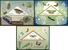 Madagascar Butterflies Insects MNH stamps set of 3 sheets