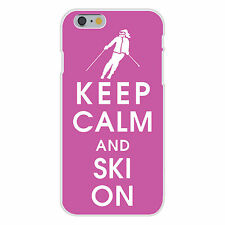 Keep Calm and Ski On Downhill Skier FITS iPhone 6 Plastic Snap On Case Cover New