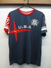 Puma USA Yachting World Series Heritage Edition #17 Cotton Blend T-Shirt Size L
