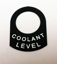COOLANT LEVEL warning light Land Rover Classic race rally car IVA lucas  tag