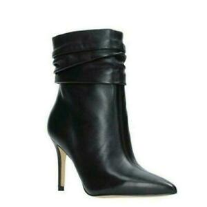 Sexy Pointy Toe Pleated Women's Ankle Boots Fashion Shoes Club High Heel Ladies