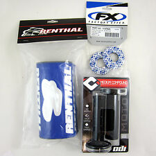 "Renthal Blue 1-1/8""Fat Bar Pad FX Grip Donuts Black ODI Ruffian Grips YZ YZF TTR"