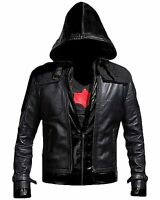 New Batman Arkham Knight Game Red Hood Leather Jacket & Vest Costume -BNWT