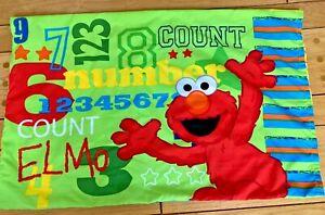 Sesame Street Standard Pillowcase Yellow/Green Elmo Cookie Monster Oscar Grouch