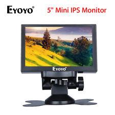 """Eyoyo 5"""" Mini coche trasera vista conmutación in-plane Monitor Con Vga/HD/Entrada De Video Audio/Bnc Para Dvd Dvr Ccd"""
