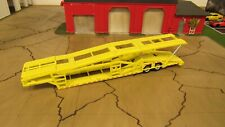 USED LOOSE LIME YELLOW 5 CAR TRANSPORT TRANSPORTER CARRIER TRAILER 1:64 SPECCAST