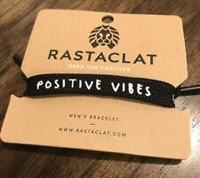Rastaclat Positive Vibes LIONS HEAD Classic Lace Bracelet Black