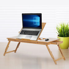 Foldable Bamboo Laptop Notebook PC Desk Table Stand Bed Tray 28""