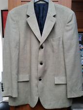 Moss Mens Check Sandstone Jacket 100% Wool Blazer in Size 44R