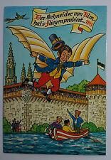 Schöne alte Ansichtskarte AK - Der Schneider von Ulm hat´s fliegen probiet 1811