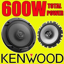 KENWOOD 600W TOTAL 2WAY 6.5 INCH 16.5cm CAR DOOR/SHELF COAXIAL SPEAKERS PAIR NEW