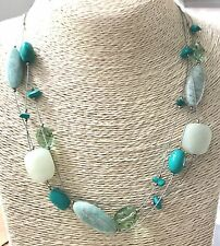 Silpada .925 Sterling Silver Serpentine Amazonite Howlite Necklace N2021 RETIRED