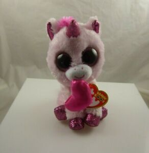 Darling Ty collection Pink Unicorn beanie boo's birthday Feb 3
