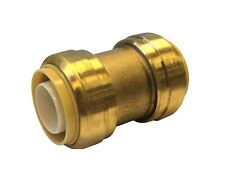 Libra Supply 1/2 inch, 1/2'' Push-Fit brass Coupling, Push to Connect, 12 pcs