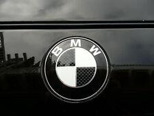 BMW Roundel Black Carbon 74MM OEM SIZE HOOD/TRUNK EMBLEM BADGE 2 PIN