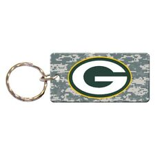 GREEN BAY PACKERS DIGITAL CAMO RECTANGLE ACRYLIC KEY RING NEW WINCRAFT 🏈