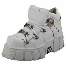 New Rock M106n-c27 Unisex White Leather Platform Shoes