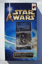 Star Wars Valentine Cards (30) Foil Fold & Seal Cards with Seals Fast Shipping