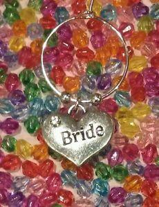 Bride Lucky Wine Glass Charm Hen's Night Celebration or Keepsake Memento Wedding