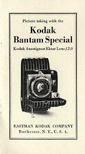 Kodak Bantam Special Instruction Manual: Compur Shutter, 1937