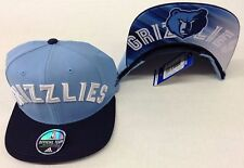 NBA Memphis Grizzlies Adidas Name Under Brim Snap Back Cap Hat Style #VN73Z NEW!