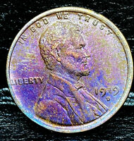 """1919 D Lincoln Wheat Penny Cent- """"Beautiful Toning"""" SUPERB CLOSELY UNCIRCULATED"""