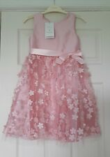 NEW Monsoon Party Perfect - 3D Blossom Dress - Age 6 - Dusky Pink