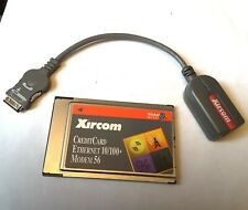 Xircom PCMCIA Credit Card Ethernet LAN Adaptor card with Modem Dongle