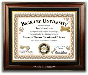 German Shorthaired Pointer PERSONALIZED CERTIFICATE Diploma - Dog Tag Toy - GIFT