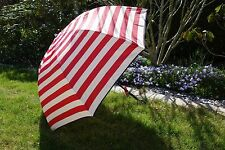 Schirm rot gestreift 98cm*80cm Dirndl nostalgie Regenschirm Deko Sonnenschirm