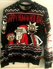 Rick and Morty Happy Human Holiday Ugly Christmas Sweater Men Small